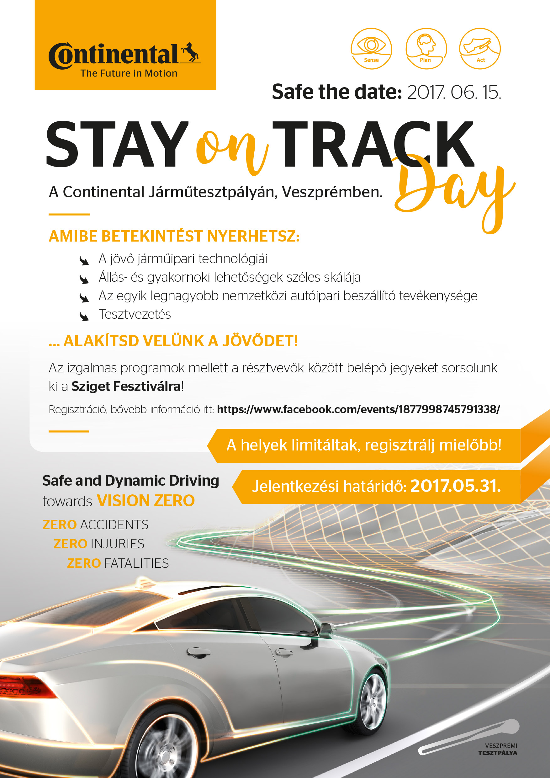 Stay on track day online poster
