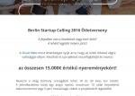 Berlin Startup Calling 2016 Ötletverseny