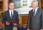 Megyei kitüntetésben részesült dr. Horvát Ottó egyetemi tanár